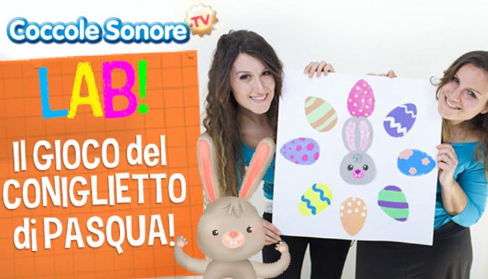 Greta e Federica, Coccole Sonore, coniglietto, tabellone gioco coniglietto