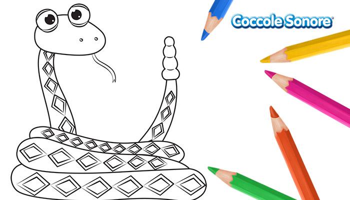 Disegno da colorare serpente