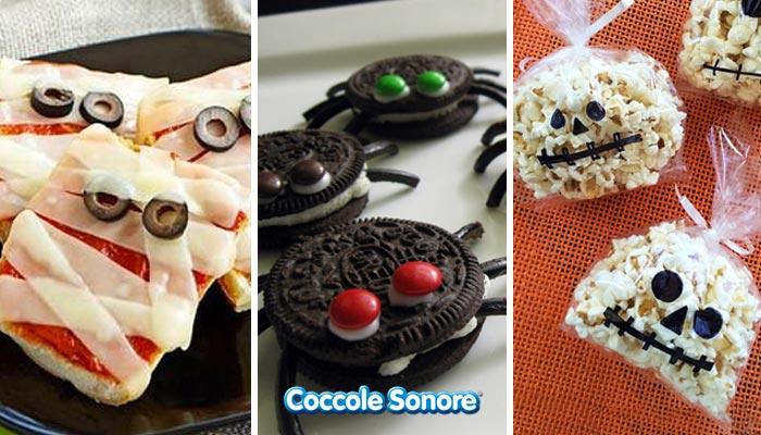 ricette halloween biscotti a forma di ragno sacchetti pop corn pizza mummia