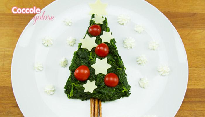 Torta spinaci ad albero di natale, coccole golose