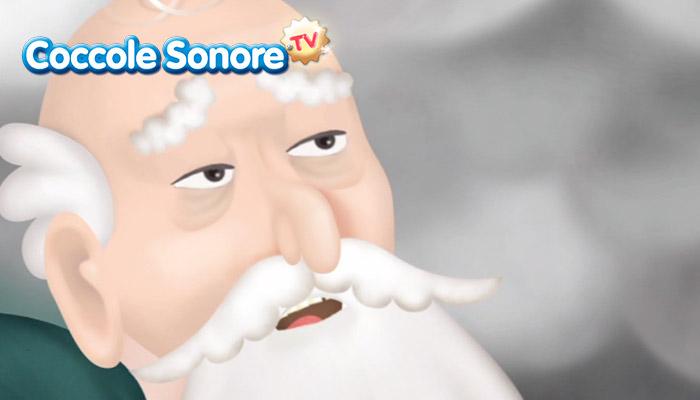 Vecchio con baffi e barba lunga