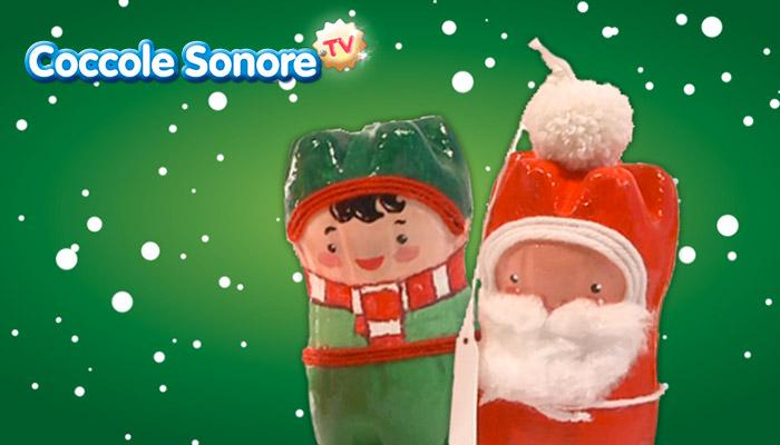 lavoretti di natale, segnaposti natalizi, coccole sonore