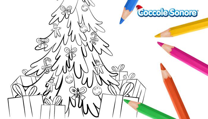 Grafica disegni da colorare di natale albero di natale