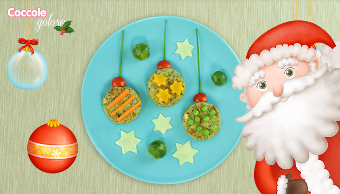 mini burger vegetali a forma di palline di Natale, finger food, Coccole Golose