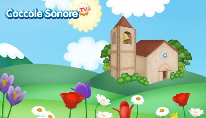 Disegno chiesa con campanile