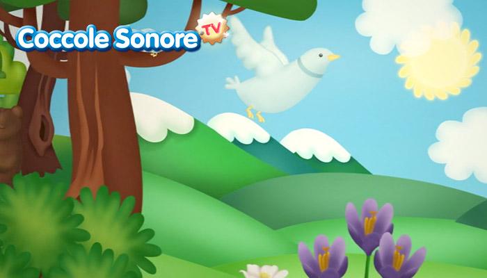 Disegno uccello bianco in volo