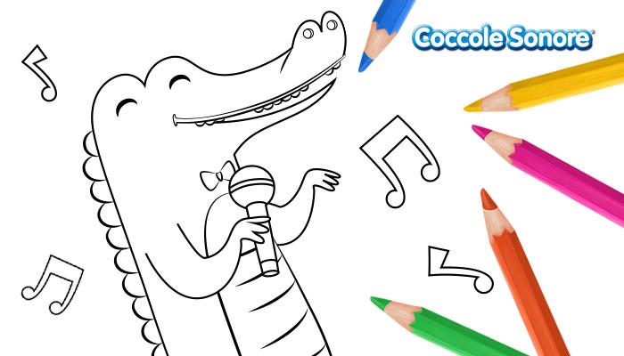 disegno da colorare coccodrillo