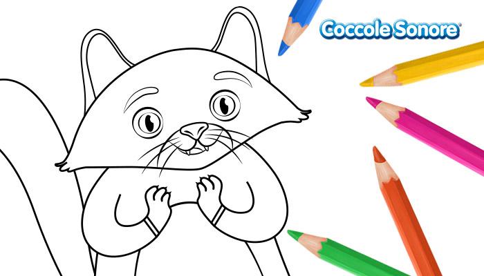 disegno da colorare gatto arancione