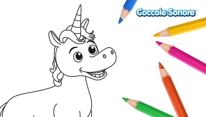 Disegno da colorare unicorno