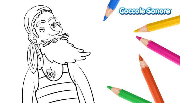 Pirata alto disegno da colorare