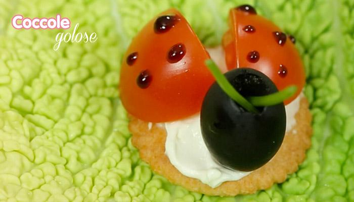 Finger food, coccinelle di pomodorini