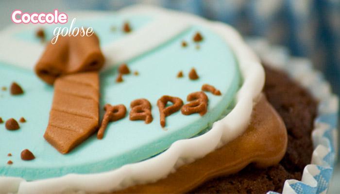 Come decorare i cupcakes al cioccolato per festa del papà