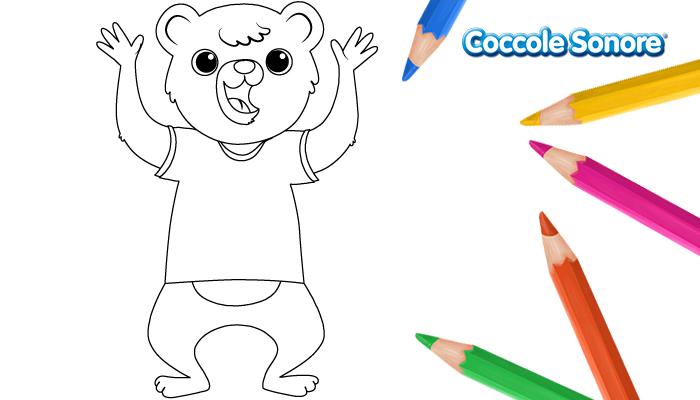 Disegni da colorare orsetto