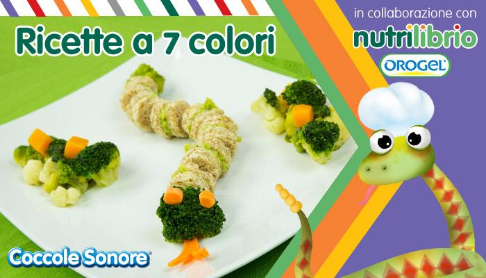 Sandwich con purè di broccoli, impiattamento serpente