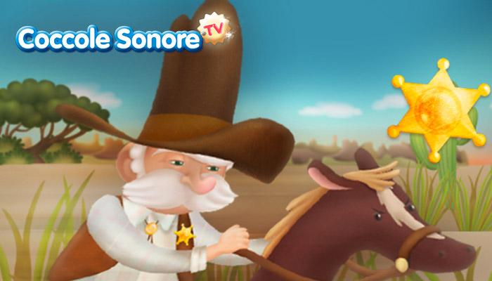 Disegno sceriffo a cavallo