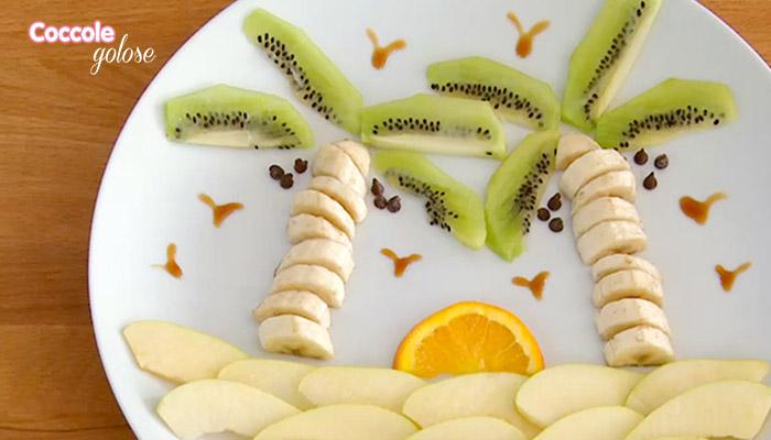 Impiattamento macedonia di frutta mista, ricette per bambini