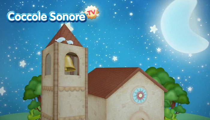 Disegno chiesa di notte rischiarata dalla luna