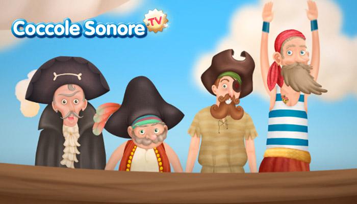 Disegno di pirati sulla nave
