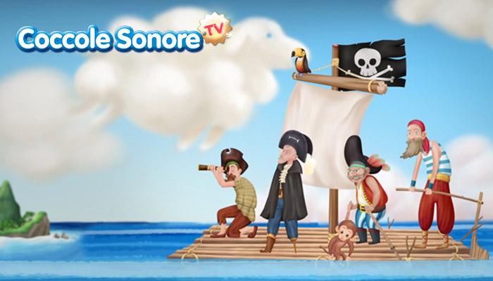Disegni pirati sulla zattera
