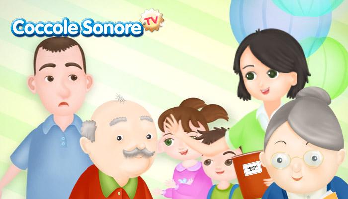 disegno di una famiglia con nonni