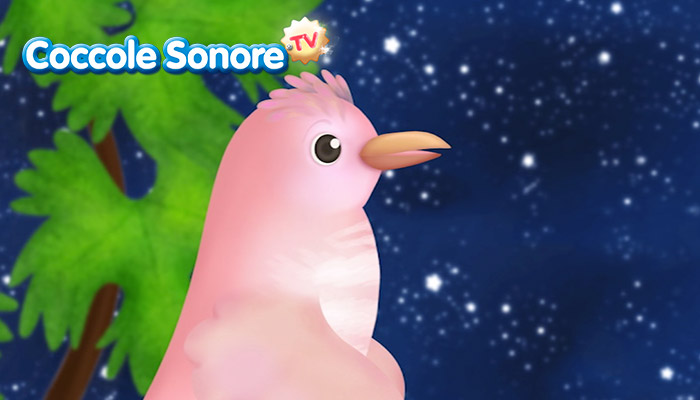 Disegno uccellino rosa