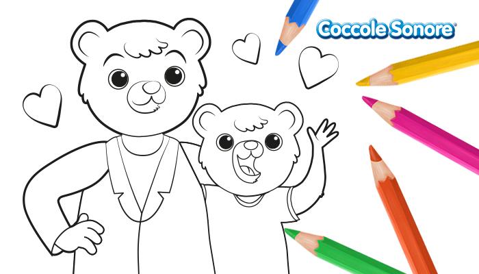 disegni da colorare orsetto Coccole Sonore San Valentino