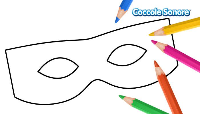 Maschera di carnevale, Disegni da colorare, Coccole Sonore