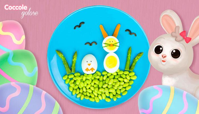 Uovo sodo a forma di pulcino e coniglietto, ricetta di Pasqua per bambini