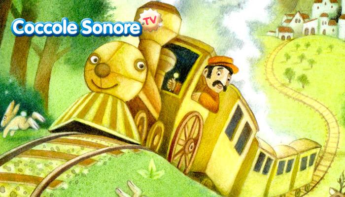 disegno treno con macchinista