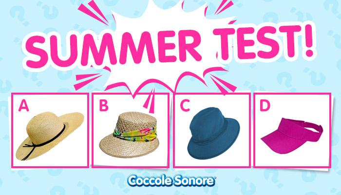 quattro cappelli cappello grande paglia nastro nero cappello visiera paglia foulard floreale cappello bucket hat blu scuro visiera fucsia, coccole sonore