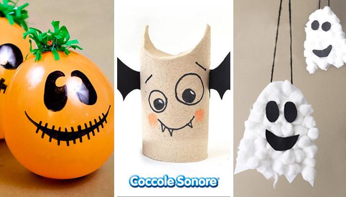 lavoretti halloween palloncino arancione rotolo carta igienica pipistrello fantasma con cotone