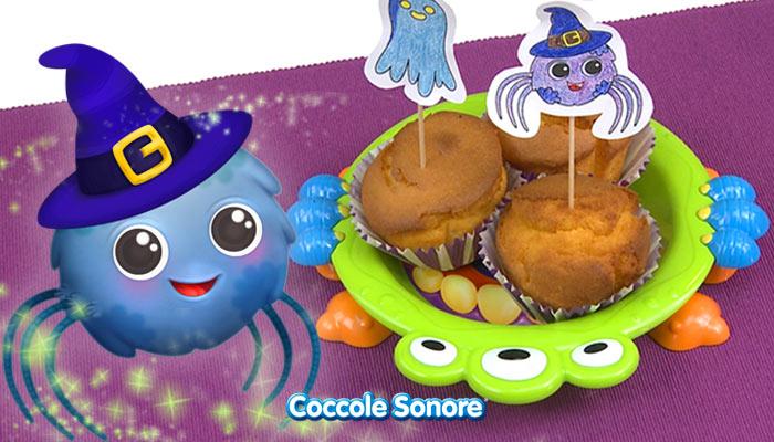 Muffin alla zucca, ricetta halloween, coccole sonore