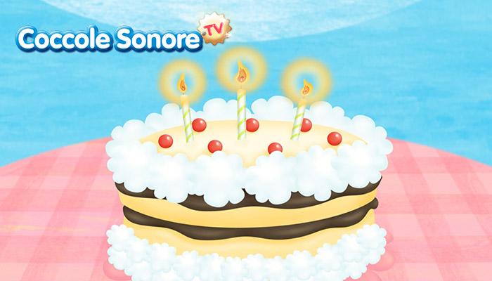 disegno torta con candeline