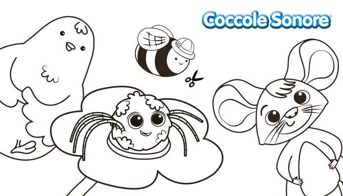 lavoretti per bambini, sagome di carta da ritagliare a forma di animale, coccole sonore