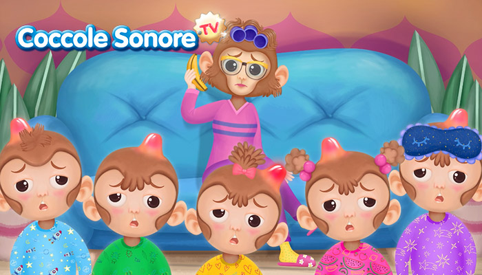 Five little monkeys, canzoncine in inglese, coccole sonore