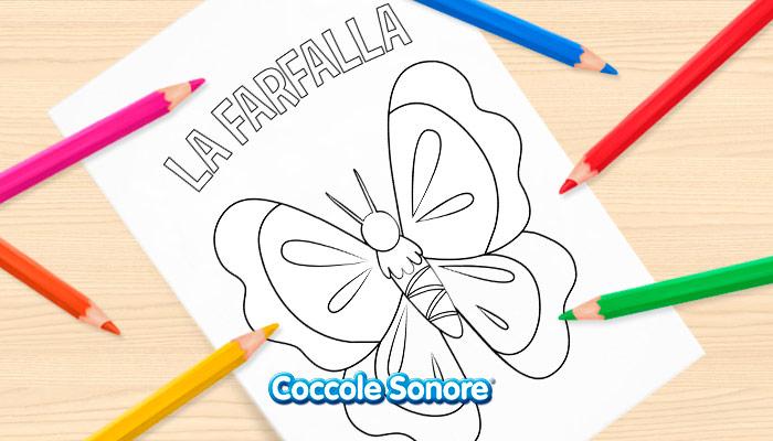 disegni da colorare farfalla animali