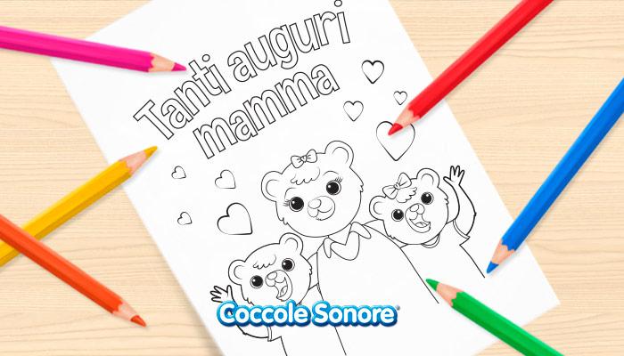 Festa della mamma disegni da colorare tanti auguri mamma