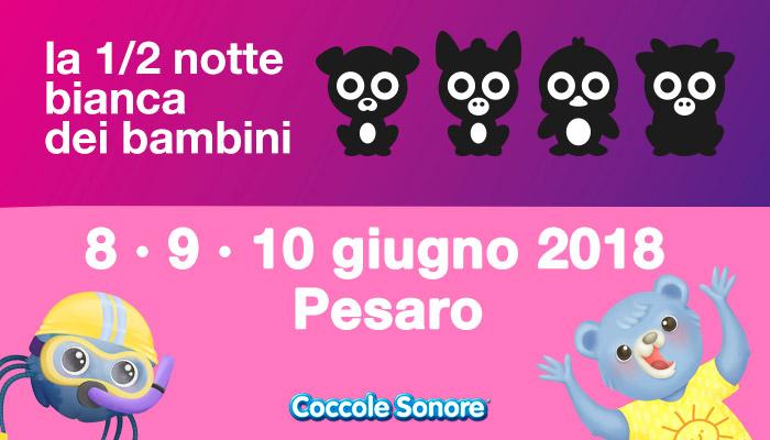 Logo 1/2 notte bianca bambini Pesaro, Coccole Sonore. Whiskey il ragnetto