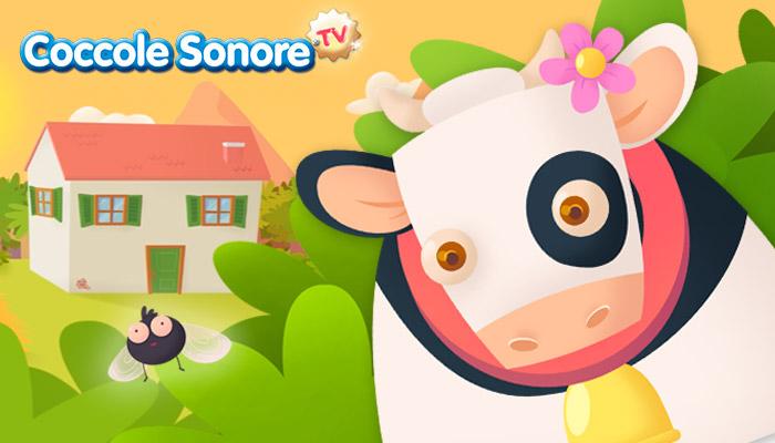 Disegno Vaca Lola, mucca, Coccole Sonore
