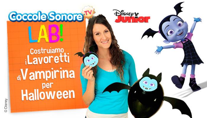 Halloween, decorazioni con palloncini, inviti festa, Vampirina, Disney, Coccole Sonore, Greta