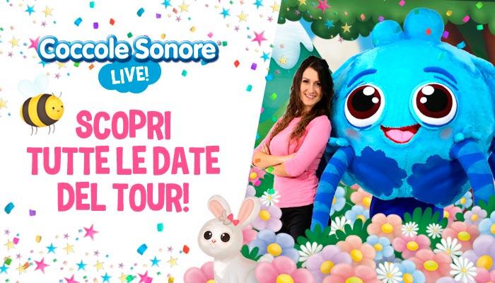 Greta di Coccole Sonore e mascotte di Whsikey il ragnetto, live tour