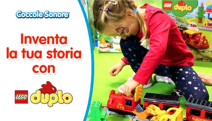 bambina gioca con Lego Duplo, Inventa la tua storia Lego Duplo, Coccole Sonore