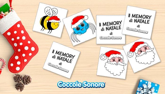 Coccole Sonore, gioco memory di natale, whiskey il ragnetto