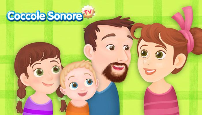 disegno di una famiglia, Coccole Sonore