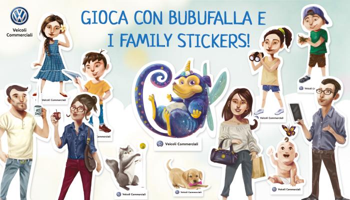 Family stickers Bubufalla, Volkswagen