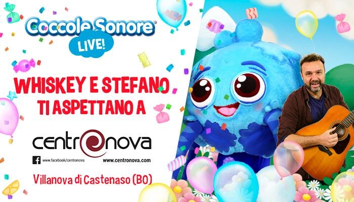 whiskey il ragnetto mascotte balla, stefano, eventi coccole sonore centro commerciale Carosello Centro Nova Villanova di Castenaso (BO)