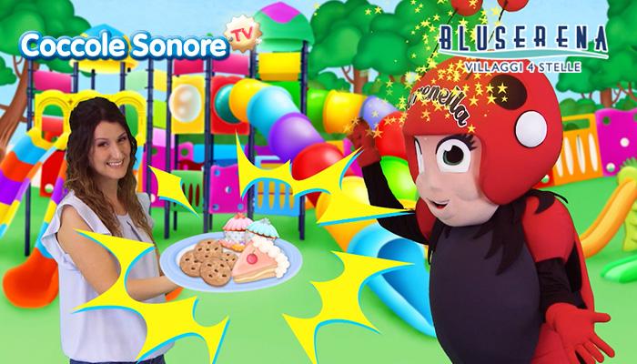 Greta e Serenella, Coccole Sonore e Bluserena su parco giochi, Serenella fa una magia