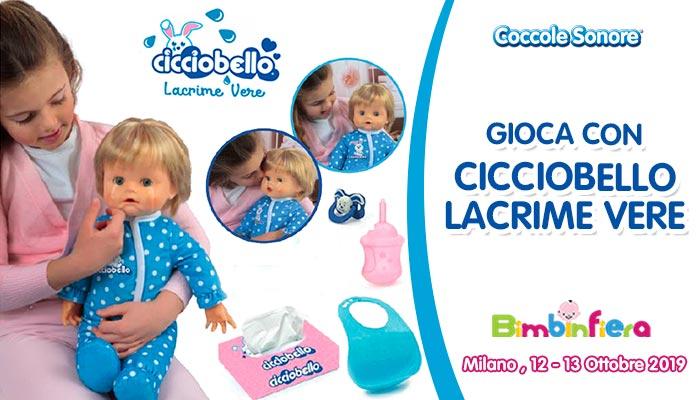 bambina gioca con Cicciobello lacrime vere Bimbinfiera Milano