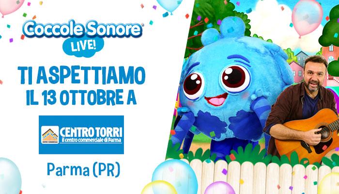 whiskey il ragnetto mascotte, Stefano Fucili, eventi coccole sonore Centro Commerciale Centro Torri di Parma