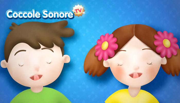 Disegno di bambini che schioccano la lingua, Coccole Sonore